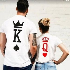 King of spades and queen heart couples shirt